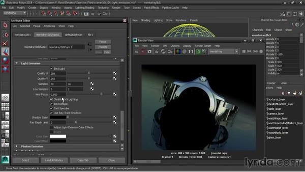 Controlling Light Emission: Creating Product Shots in Maya