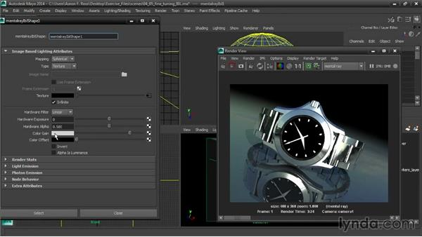Fine-tuning image-based lighting: Creating Product Shots in Maya