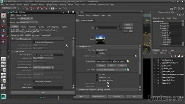 Rendering to high dynamic range: Creating Product Shots in Maya