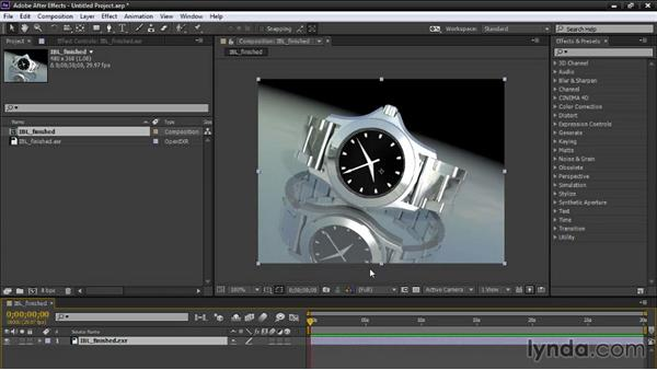 Defining After Effects color settings: Creating Product Shots in Maya