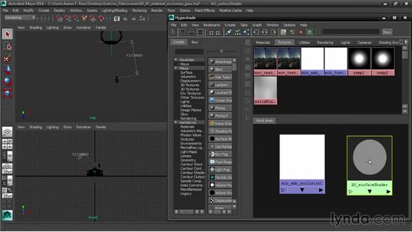 Rendering an ambient-occlusion pass: Creating Product Shots in Maya
