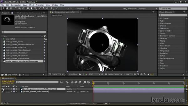 Layering render passes in After Effects: Creating Product Shots in Maya