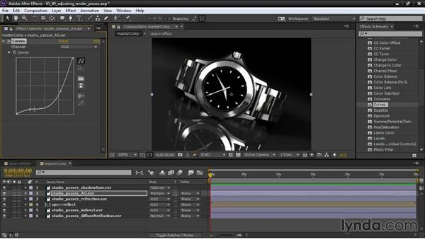 Adjusting render passes: Creating Product Shots in Maya