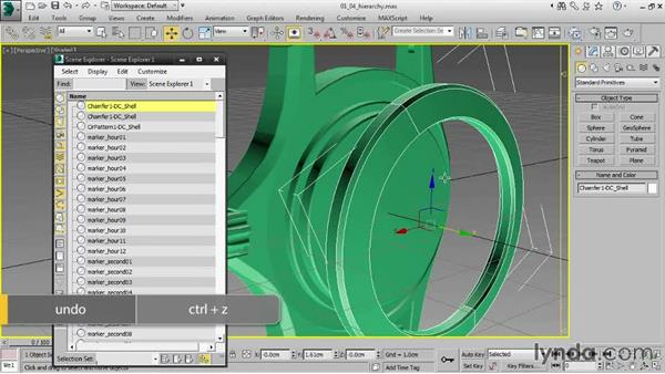 Managing the scene hierarchy: Creating Product Shots in 3ds Max
