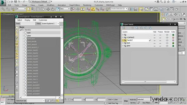 Managing display layers: Creating Product Shots in 3ds Max