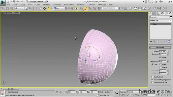 Modeling an environment sphere: Creating Product Shots in 3ds Max