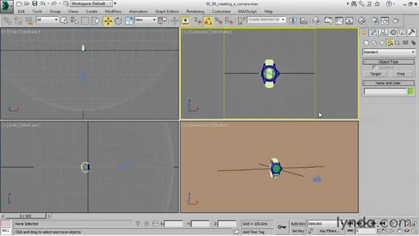 Creating a camera: Creating Product Shots in 3ds Max