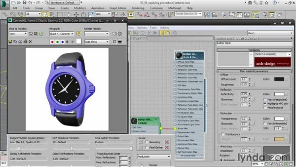 Applying procedural textures: Creating Product Shots in 3ds Max