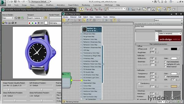 Working with reflectivity: Creating Product Shots in 3ds Max