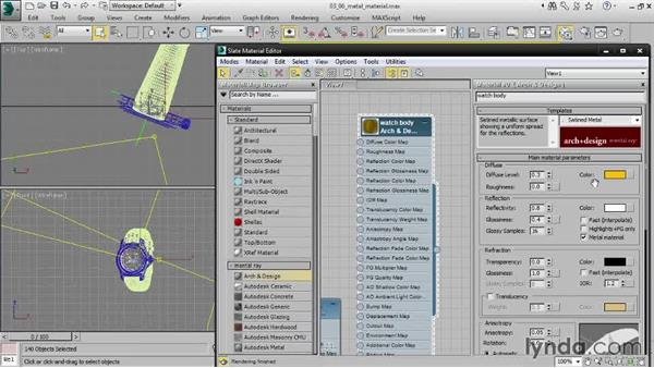 Creating a metal material: Creating Product Shots in 3ds Max
