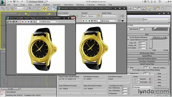 Varying highlights with a bump map: Creating Product Shots in 3ds Max