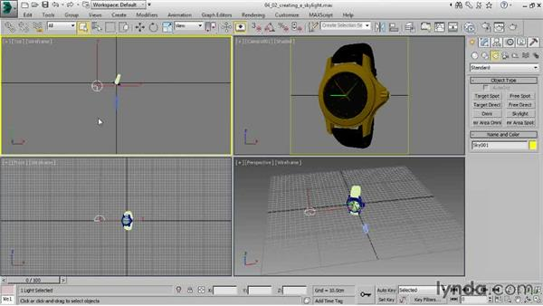 Creating a skylight: Creating Product Shots in 3ds Max