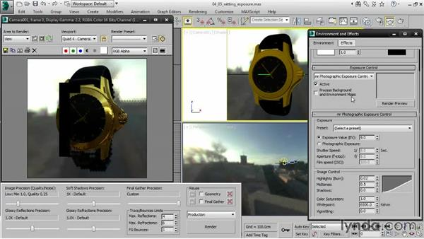 Setting exposure for image-based lighting: Creating Product Shots in 3ds Max