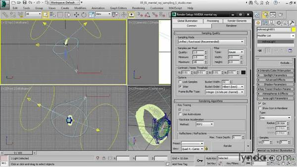 Controlling mental ray Sampling Quality: Creating Product Shots in 3ds Max