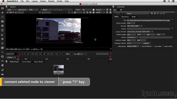 Importing footage and project settings: Creating a Show Open in Nuke X and CINEMA 4D
