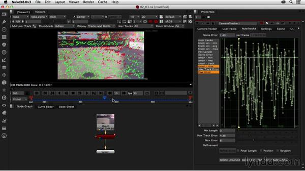 Solving the camera data and refining the results: Creating a Show Open in Nuke X and CINEMA 4D