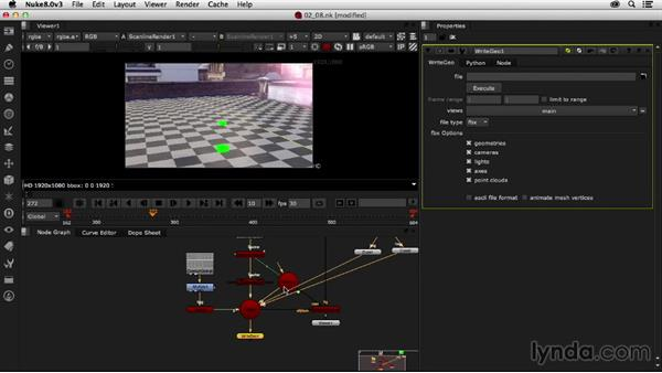 Exporting the 3D data: Creating a Show Open in Nuke X and CINEMA 4D