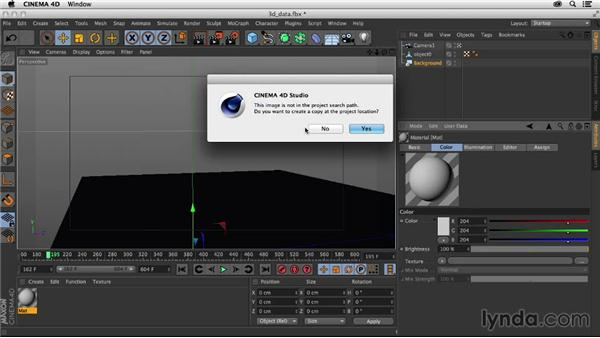 Importing the 3D data into C4D: Creating a Show Open in Nuke X and CINEMA 4D