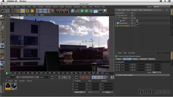 Importing the logo into the 3D scene: Creating a Show Open in Nuke X and CINEMA 4D