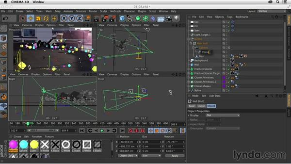 Setting object buffers and depth of field: Creating a Show Open in Nuke X and CINEMA 4D