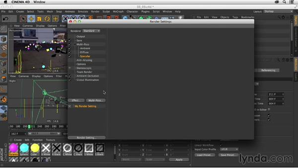 Render settings and exporting: Creating a Show Open in Nuke X and CINEMA 4D