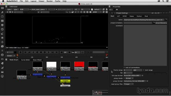 Importing C4D render passes back into Nuke: Creating a Show Open in Nuke X and CINEMA 4D