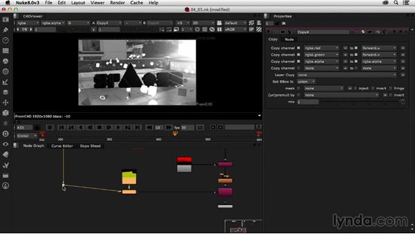 Adding vector blur: Creating a Show Open in Nuke X and CINEMA 4D