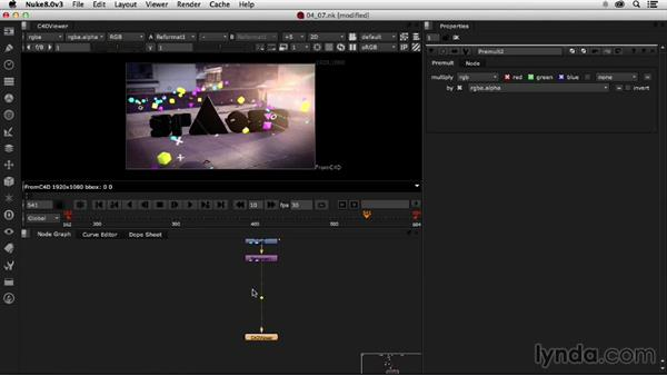 Exporting the final shot: Creating a Show Open in Nuke X and CINEMA 4D