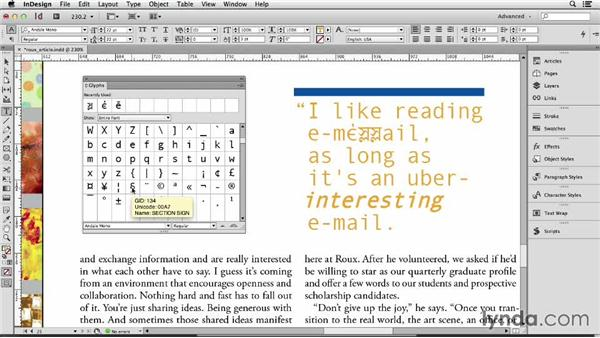 141 Inserting glyphs: InDesign Secrets