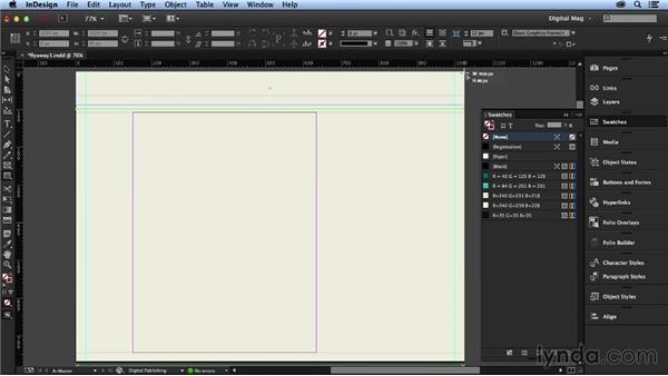Adding the page framework: Designing a Digital Magazine