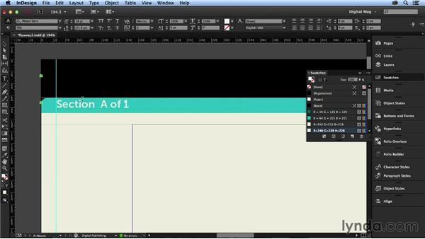 Adding page furniture: Designing a Digital Magazine