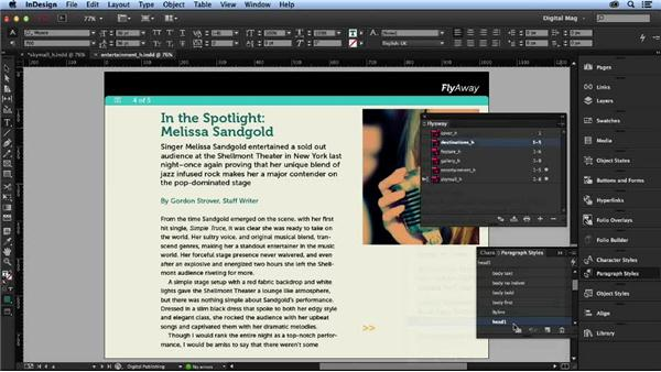Adding section markers: Designing a Digital Magazine