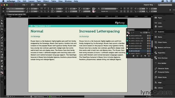 Text formatting: Designing a Digital Magazine