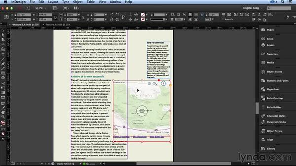Adding an interactive map: Designing a Digital Magazine