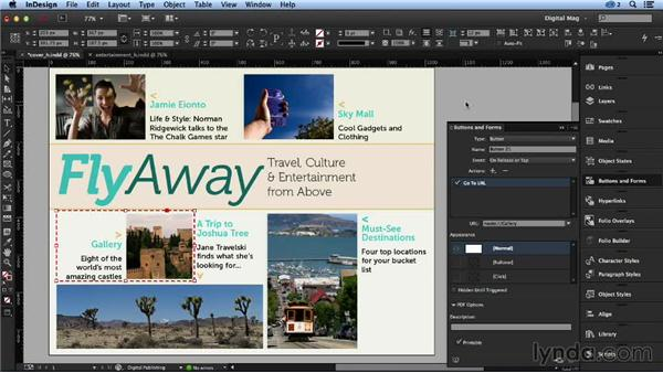Creating links to other articles: Designing a Digital Magazine