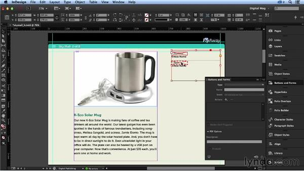 Creating links within an article: Designing a Digital Magazine
