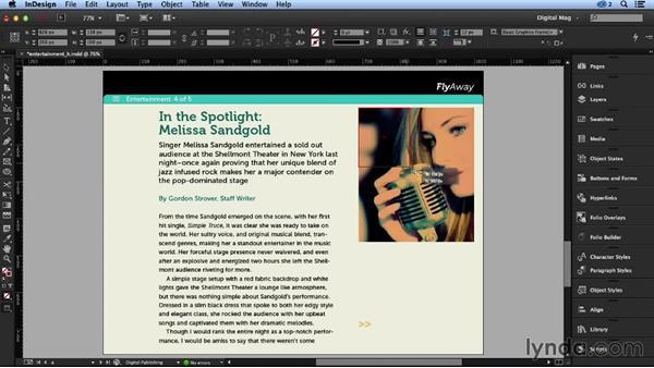 Adding audio: Designing a Digital Magazine