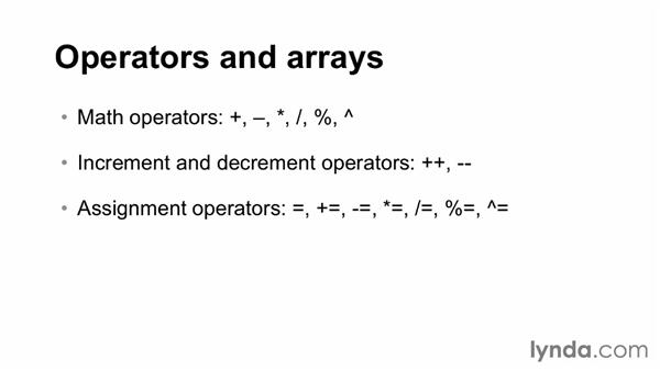 Working with operators and arrays: AWK Essential Training