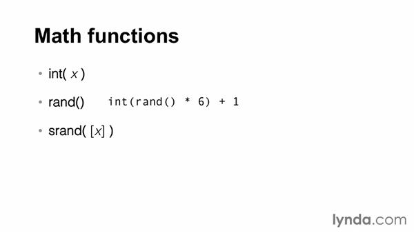 Introducing AWK's math functions: AWK Essential Training
