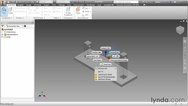 Placing components: Inventor 2014 Essential Training