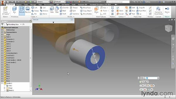 Creating components in the context of an assembly: Inventor 2014 Essential Training