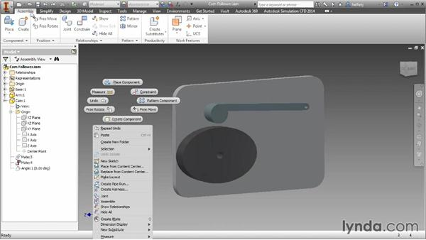 The Transitional tab: Inventor 2014 Essential Training