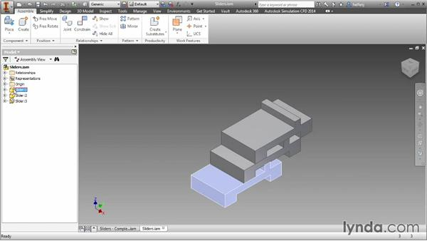Contact sets: Inventor 2014 Essential Training