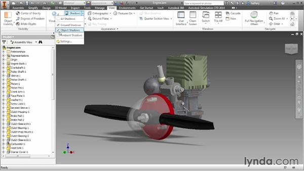 Enhancing the design experience with shadows: Inventor 2014 Essential Training