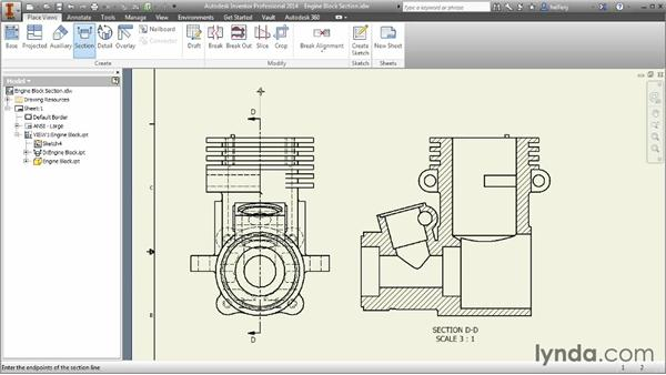 Creating section views: Inventor 2014 Essential Training