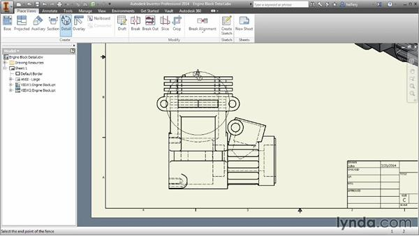 Creating detail views: Inventor 2014 Essential Training