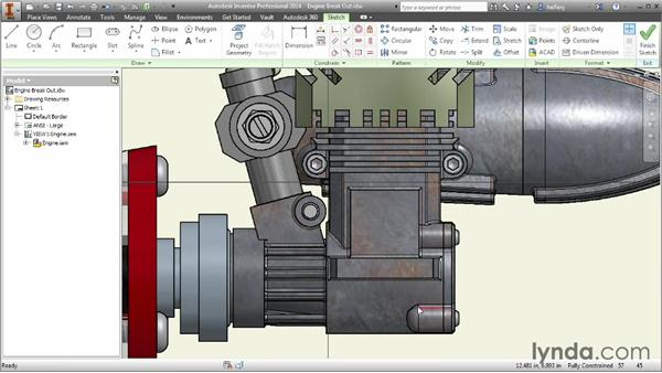Creating a breakout view: Inventor 2014 Essential Training