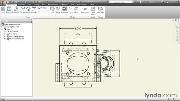 Changing dimension precision: Inventor 2014 Essential Training