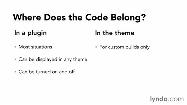 Where does the custom post type and taxonomy code belong?: WordPress: Custom Post Types and Taxonomies