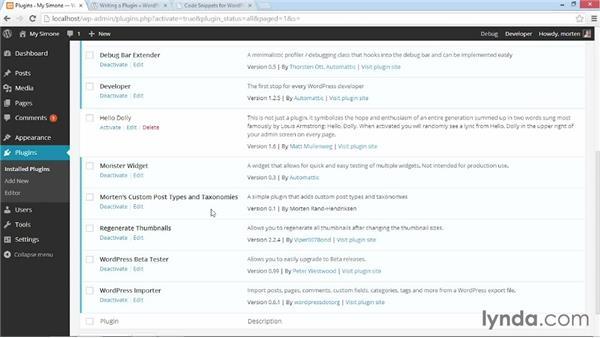 Testing the plugin to make sure it works: WordPress: Custom Post Types and Taxonomies